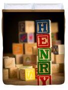 Henry - Alphabet Blocks Duvet Cover