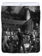 Henry Clay Speaking In The Senate Duvet Cover
