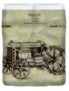 Henry Ford Tractor Patent Duvet Cover