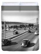Henry Hudson Drive In New York Duvet Cover
