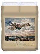 Henson's Aerial Steam Carriage 1843 Duvet Cover