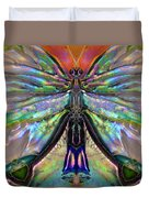 Her Heart Has Wings - Spiritual Art By Sharon Cummings Duvet Cover