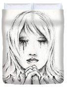 Her Prayers Duvet Cover