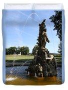 Hercules Sculpture Water Fountain  Duvet Cover