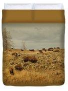 Herd Of Buffalo Duvet Cover
