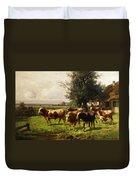 Herd Of Cows Duvet Cover