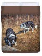 Herder And Herded Duvet Cover