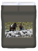 Herding Sheep Patagonia 3 Duvet Cover