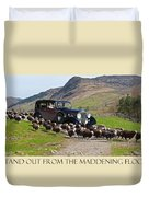 Get The Flock Out Duvet Cover