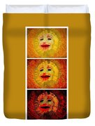 Here Come The Suns Vertical Duvet Cover