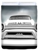Here Comes The Sun - Gmc 100 Pickup 1958 Black And White Duvet Cover