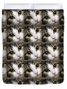 Here Kitty Kitty Close Up 25 Duvet Cover by Andee Design