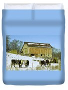 Hereford Barn Painting Duvet Cover