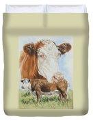 Hereford Cattle Duvet Cover