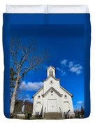 Heres The Church And The Steeple Duvet Cover