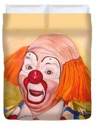 Watercolor Clown #9 Herky The Clown Duvet Cover