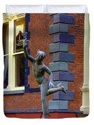 Hermes In The Garden Duvet Cover