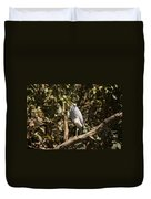 Heron At Katherine Gorge Duvet Cover