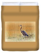 Heron At Sunset Duvet Cover by Marty Koch