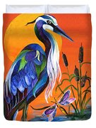 Heron Blue Duvet Cover