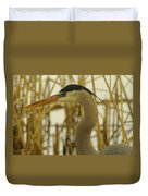 Heron Close Up Duvet Cover