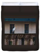 Heron In The Window Duvet Cover