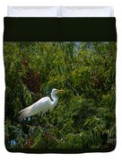 Heron In Tree Duvet Cover