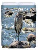 Heron On One Leg Duvet Cover