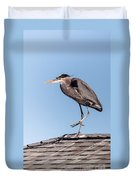 Heron Up On The Roof Duvet Cover