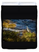 Heron Watchful Eye Duvet Cover