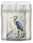 Herons Natural World Duvet Cover