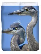 Herons On The Lookout Duvet Cover