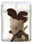 Herringbone Reindeer Duvet Cover by Anne Gilbert