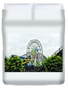 Hershey Park Ferris Wheel Duvet Cover