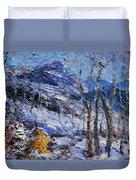 Heystack In The Snow Duvet Cover