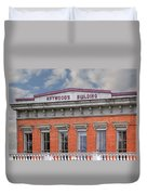 Heywoods Heywood Building In Old Sacramento California Duvet Cover