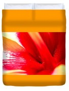 Hibiscus Abstract In Red And Yellow Duvet Cover