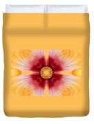 Hibiscus Close-up--kaleidoscope Duvet Cover