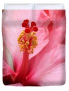 Hibiscus Flower Close Up Duvet Cover