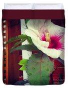 Hibiscus Flower In Bloom Duvet Cover