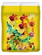 Hibiscus Impressionist Duvet Cover