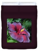 Hibiscus Night Fire Duvet Cover