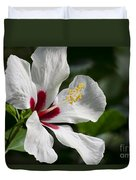 Hibiscus White Wings Duvet Cover