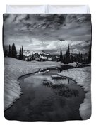 Hidden Beneath The Clouds Duvet Cover