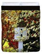 Hidden Bird House Duvet Cover