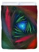 Hidden Jungle Plant-abstract Fractal Art Duvet Cover