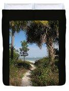 Hidden Path To The Beach Duvet Cover