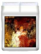 Hidden Square White Frame Duvet Cover
