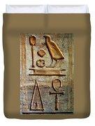 Hieroglyphics At Amada Duvet Cover