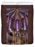 High Altar And Stained Glass Windows  Duvet Cover